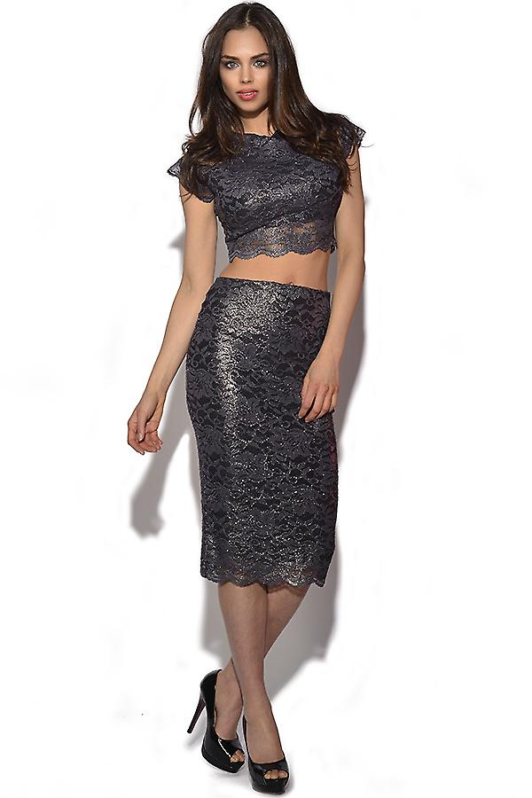 Honor Gold 2 Stuk Crop Top en Rok Set