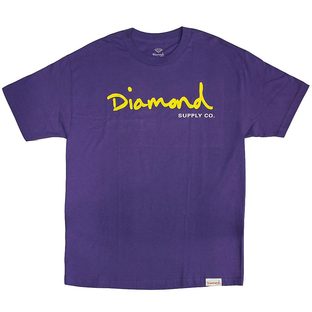 Diamond Supply Co OG Script T-shirt purple