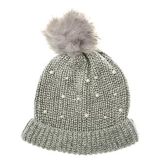 Womens Vero Moda Sarah Beanie Hat In Light Grey Melange