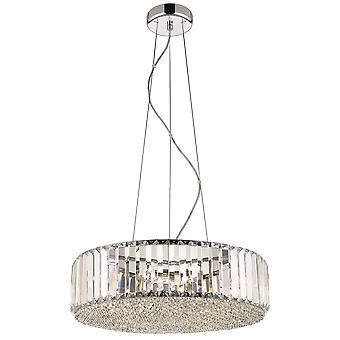 Spring Lighting - Poole Chrome And Crystal Small Round Pendant  CFMH046DM5EFDP