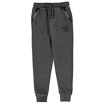 Firetrap Boys Fleece Slim Joggers Junior Bottom Trousers Pants