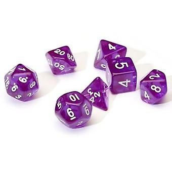 Translucent Purple Poly Set Dice Set
