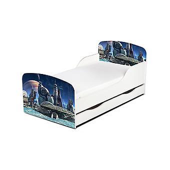 PriceRightHome Space Port peuter bed met ONDERBED opslag
