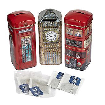 Heritage tea selection triple tea tins of 14 gift pack big ben