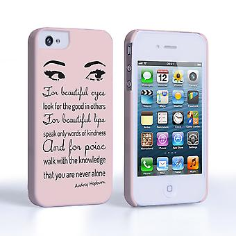 Caseflex iPhone 4and4s Audrey Hepburn 'Eyes' Quote Case