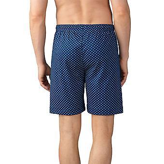 Mey men 21450-664 heren Lounge Neptune blauw tegel print katoen pyjama pyjama's short