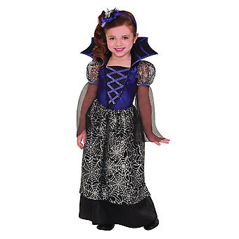 Filles Miss Wicked Web Halloween Fancy Dress Costume