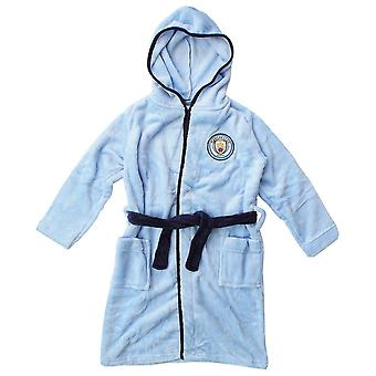 Man stad Kids dressing Gown/Childrens Manchester City Gown