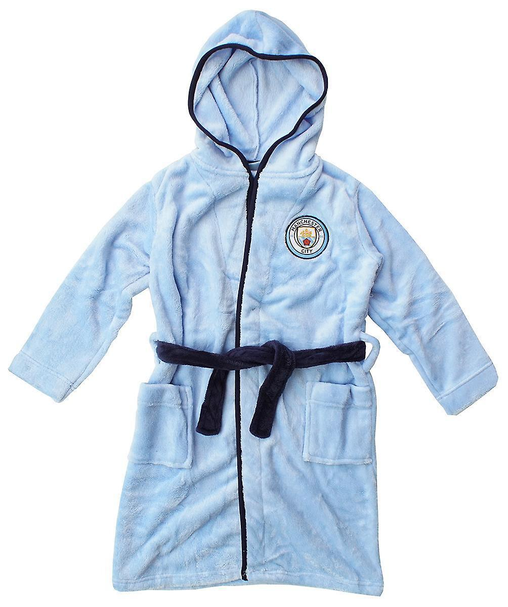 Man City kids dressing gown / Childrens Manchester City gown