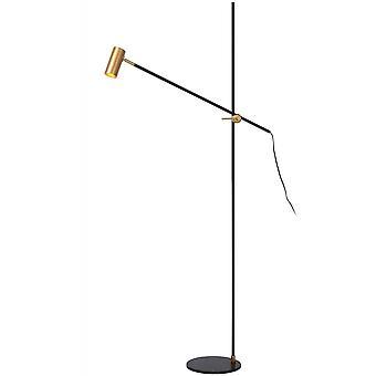 lucide Philine lampe Vintage sol noir et or en acier
