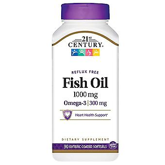 21st century enteric coated fish oil, 1000 mg, softgels, 90 ea