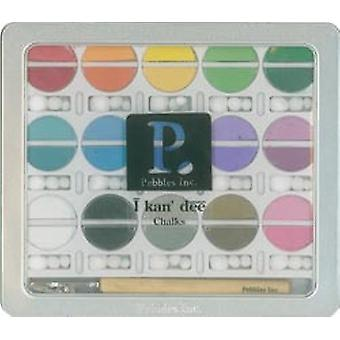 I Kan'dee Chalk Set Basic Brights Ikchlk 42001
