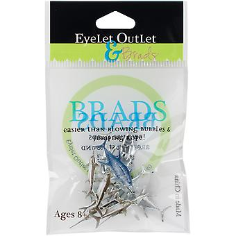 Eyelet Outlet Shape Brads 12/Pkg-Deep Sea QBRD2-29A
