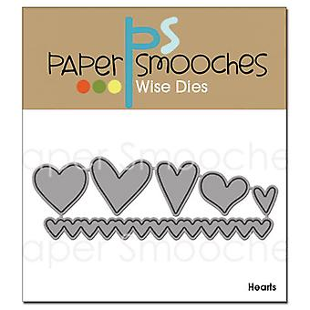 Paper Smooches Die Hearts Ded106