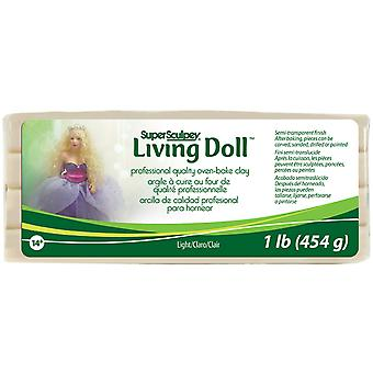 Super Sculpey Living Doll Clay 1 Pound Light Zsld 3