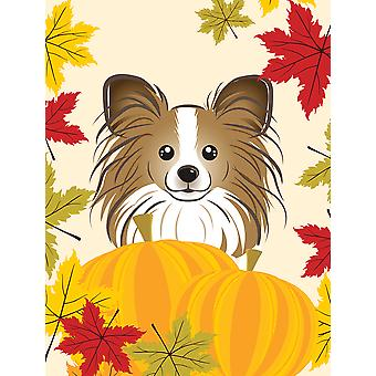 Papillon Thanksgiving Flag Canvas House Size BB2054CHF