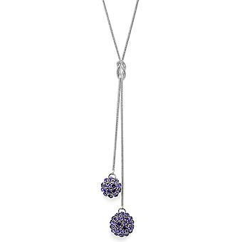 Tanzanite Crystal Mesh Ball ciondolo collana PMB112.5