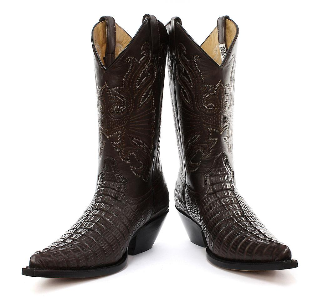 Grinders Carolina Brown Mens Western Cowboy Boots