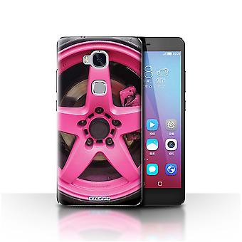STUFF4 Case/Cover for Huawei Honor 5X/GR5/Pink/Alloy Wheels