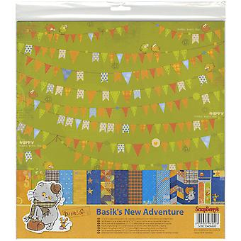ScrapBerry's Basik's New Adventure Paper Pack 12