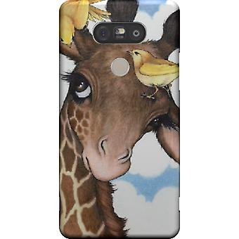 Cape Giraffe with birds for LG G5