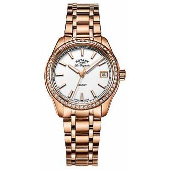 Rotary Womens Legacy Rose Gold Plated Stainless Steel LB90176/01 Watch