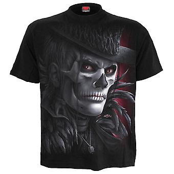 Spiral Direct Day Of The Goth Mens Tshirt Top Black Sugar Skull Feather