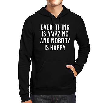 Everything Amazing Nobody Happy Black Hoodie Pullover Fleece