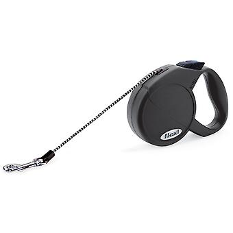 Flexi Cat Cord Black Extra Small 8kg - 3m (10ft)