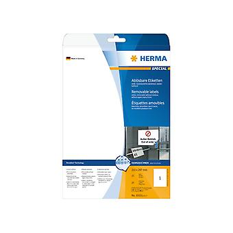 Labels white HERMA Movables 210 x 297 A4 25 pcs.