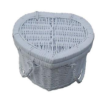 Provence Heart Small Empty Picnic Basket