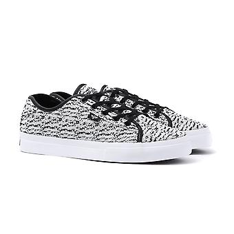 Creative Recreation Kaplan White & Black Knitted Trainers