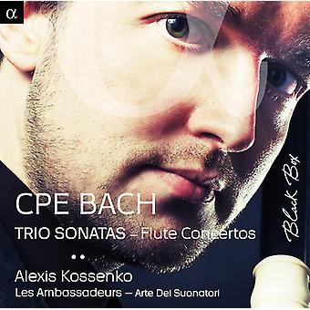 Kossenko, Alexis Les Ambass - C.P.E Bach: Trio Sonatas Flue Concertos [CD] USA import