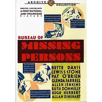 Bureau van vermiste personen [DVD] USA import