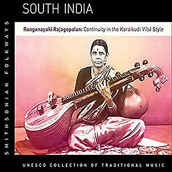 Ranganayaki Rajagopalan - sydlige Indien: Ranganayaki Rajagopalan kontinuitet [CD] USA import