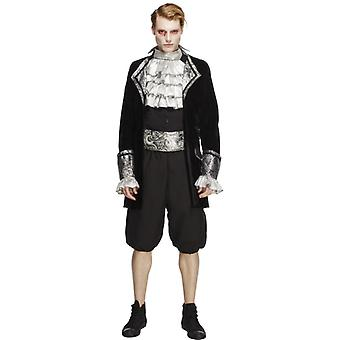Fever collection, Baroque vampire Mr. costume, black and silver