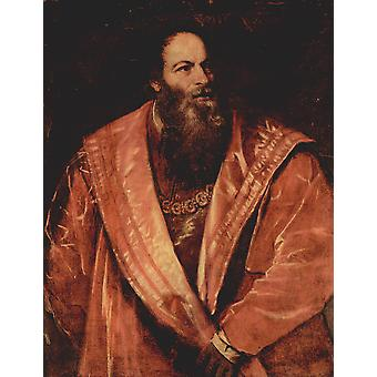 Titian - Red Robes Poster Print Giclee