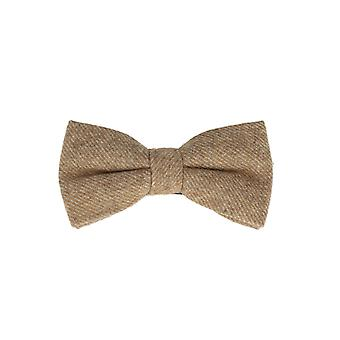 Snobbop-bound fly Brown loop cotton bow tie