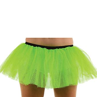 Wicked Ladies Green Tutu 3 Layer Halloween Fancy Dress Accessory