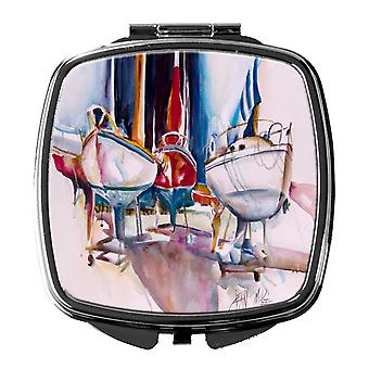 Carolines Treasures  JMK1240SCM Dry Dock Sailboats Compact Mirror