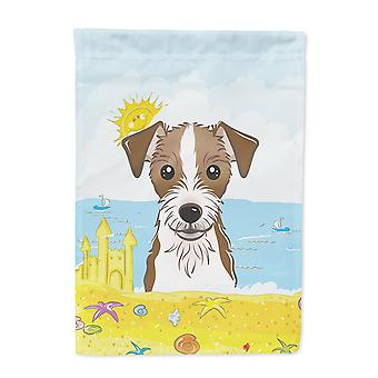 Jack Russell Terrier Summer Beach Flag Canvas House Size