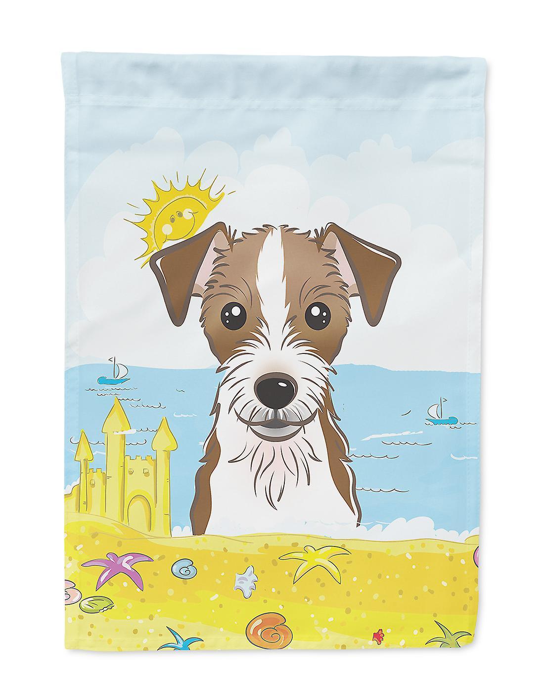Jack Russell Terrier Summer Beach Flag Taille maison du canevas