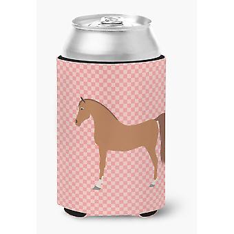 Carolines Treasures  BB7911CC Arabian Horse Pink Check Can or Bottle Hugger