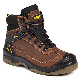 Brown Waterproof Safety Hiker,