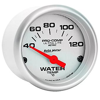 Auto Meter 4337-M Ultra-Lite Electric Water Temperature Gauge