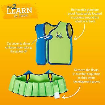 Zoggs Kids Deep Sea Adjustable Buoyancy Bobin Swim Jacket for 2-3/4-5 Years