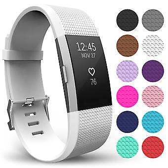 Yousave Fitbit Charge 2 Strap Single (Large) - White