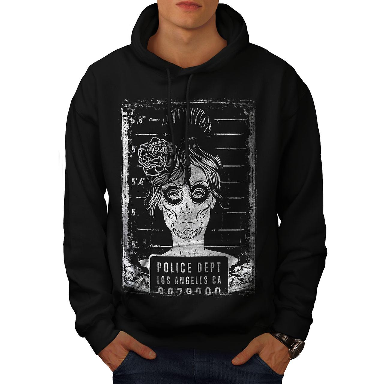 LA Police Dept Zombie Men Black Hoodie | Wellcoda