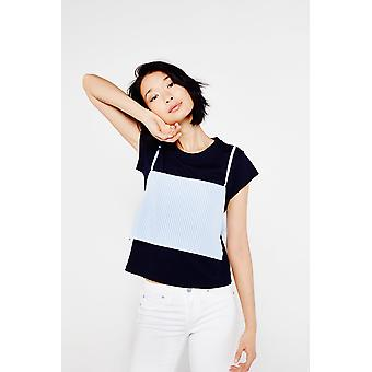 Ouor Stripe Overlay T-Shirt