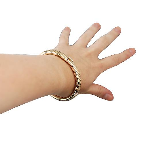 9ct Gold oval Snake Body Bracelet